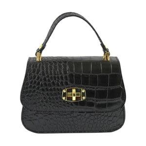 Černá kožená kabelka Chicca Borse Caroline