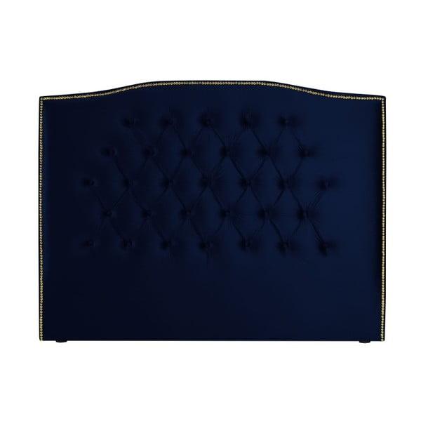 Námořnicky modré čelo postele Mazzini Sofas Anette, 160 x 120 cm