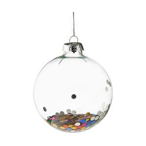 Vánoční závěsná ozdoba ze skla Butlers Konfety, ⌀ 8 cm
