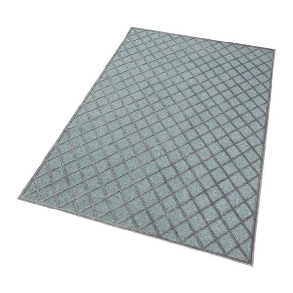 Šedo-modrý koberec Mint Rugs Shine Karro, 80 x 125 cm