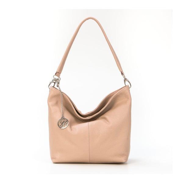 Kožená kabelka Marco, pudrová