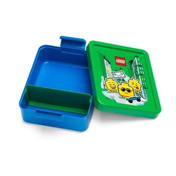 Cutie pentru gustare cu capac verde LEGO® Iconic, albastru imagine