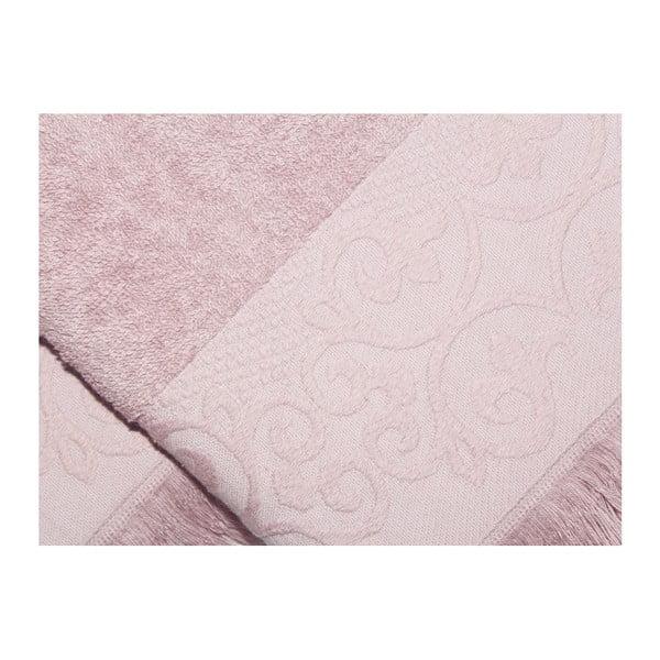 Sada 2 růžových růčníků z bavlny Sehzade, 50 x 90 cm