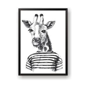 Plakát Nord & Co Hipster Giraffe, 21 x 29 cm