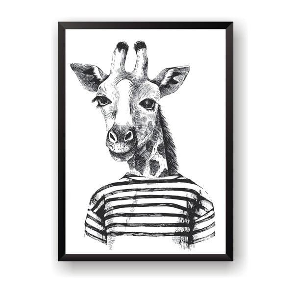 Plakát Nord & Co Hipster Giraffe, 30 x 40 cm