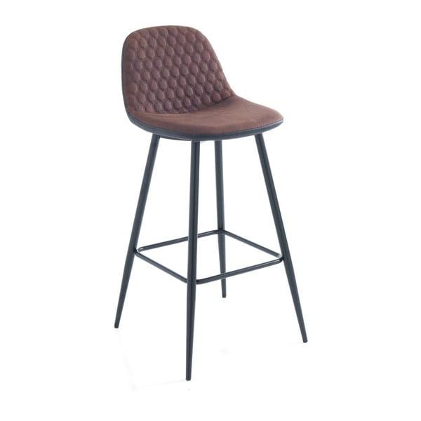 Sada 2 hnědých barových židlí Tomasucci Gale