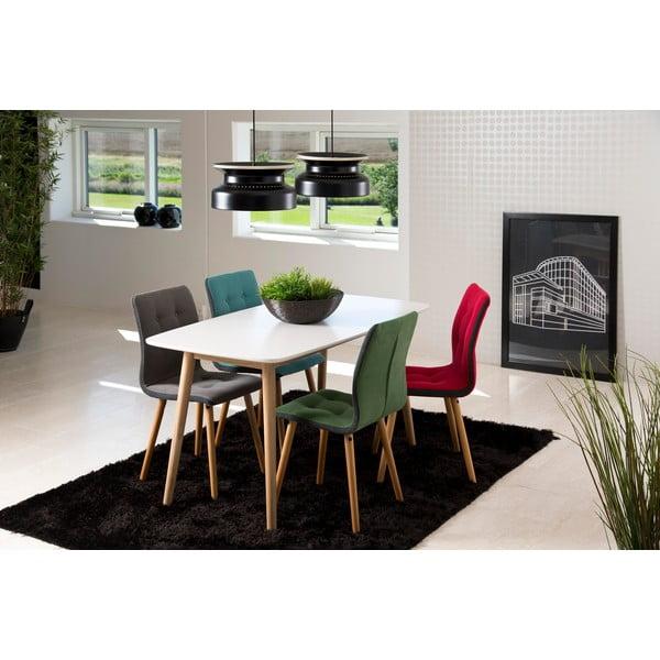 Sada 2 antracitově šedých jídelních židlí Actona Frida