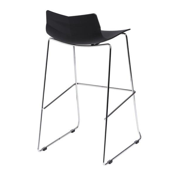 Černá barová židle D2 Leaf