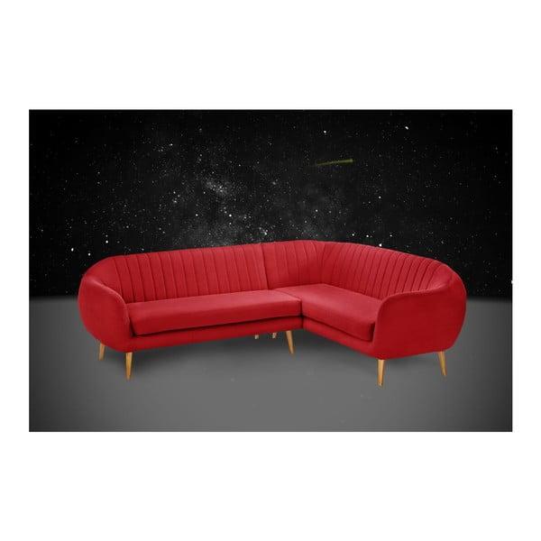 Pohovka Comete Grand Red s lenoškou na pravé straně