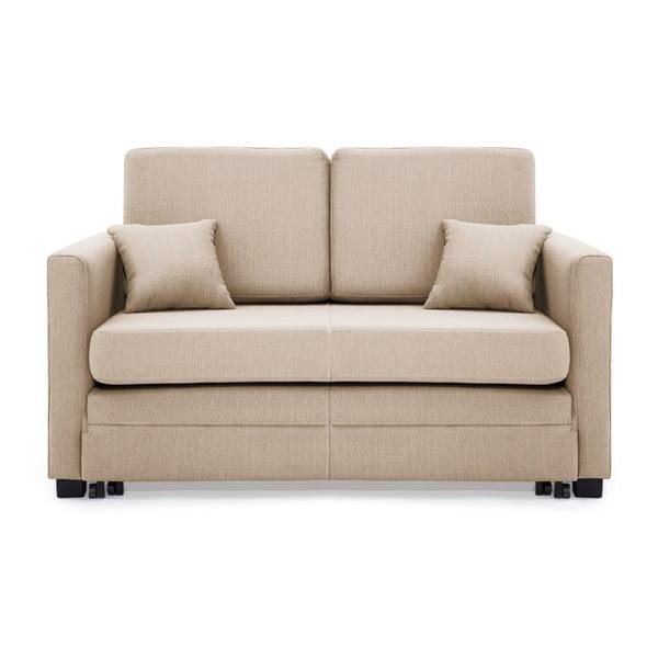 Piaskowobrązowa 2-osobowa sofa rozkładana Vivonita Brent