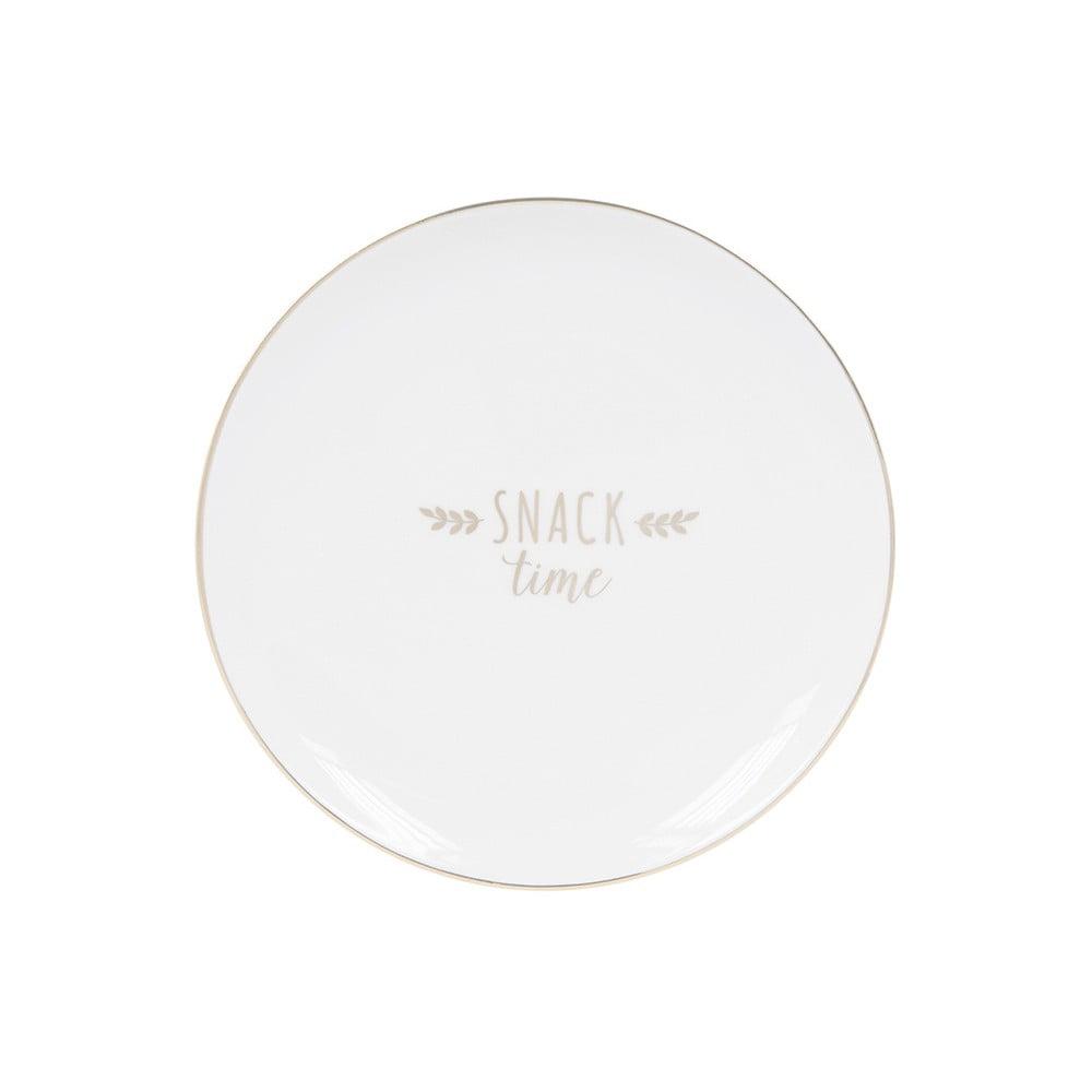 Dezertní talíř z kostního porcelánu Ashdene My Metallics, ⌀15cm