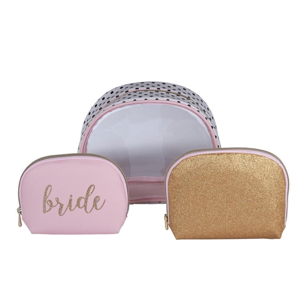 Set 3 kosmetických taštiček Tri-Coastal Design Bride