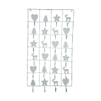 Calendar metalic advent Green Gate, lungime 71 cm, alb imagine