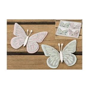 Sada 8 dekorací Boltze Butterfly
