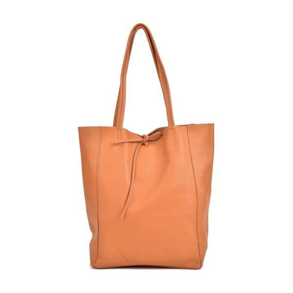 Shopper konyakbarna bőr női kézitáska - Sofia Cardoni