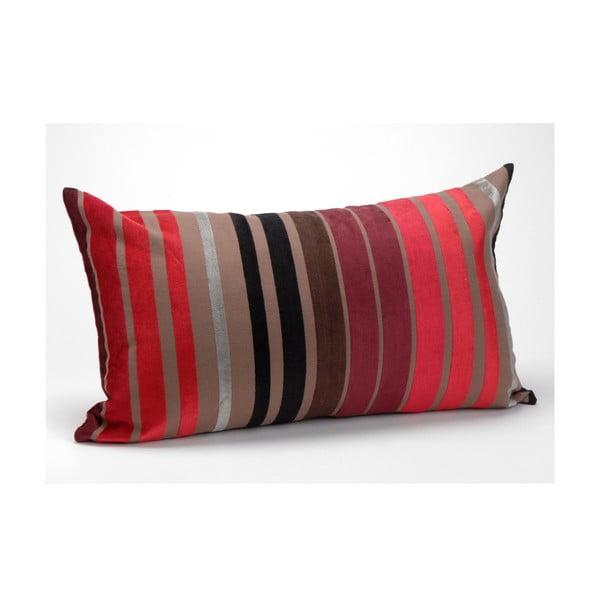 Polštář s náplní Plum Stripes, 30x50 cm