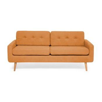 Canapea cu 3 locuri Vivonita Ina portocaliu
