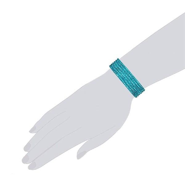 Náramek Simply Blue, 21 cm