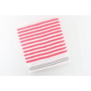 Bavlněný ručník BHPC 50x100 cm, růžovo-bílý