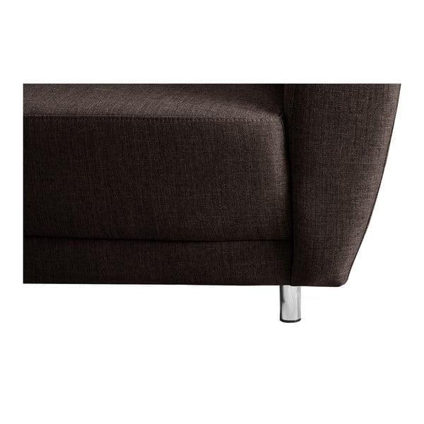 Canapea cu șezut pe partea stângă Florenzzi Viotti, maro închis