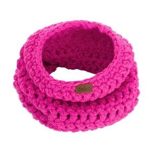 Růžová ručně háčkovaná kruhová šála DOKE Peony