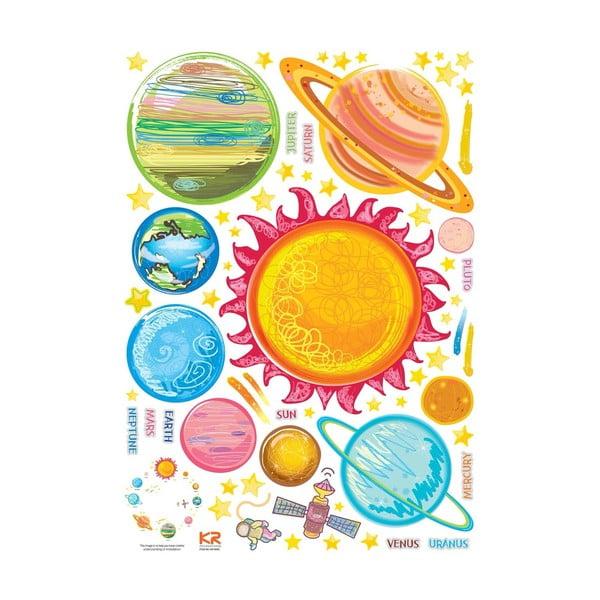 Sada samolepek Ambiance Solar System Planets