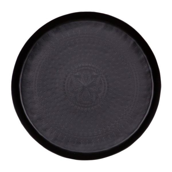 Černý dekorativní podnos De Eekhoorn Waitress, Ø44cm