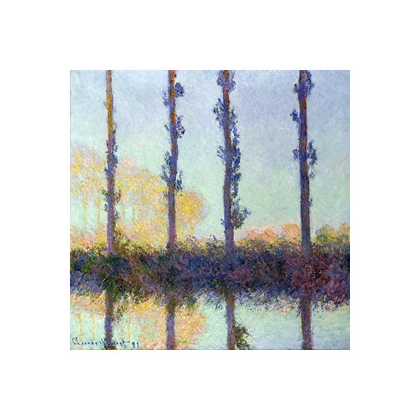 Obraz Claude Monet - The Four Trees, 40x40 cm