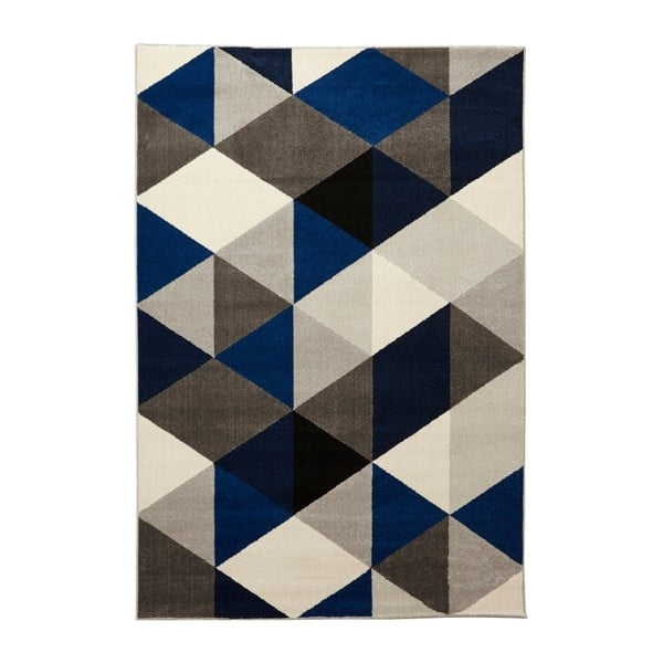Koberec s modrými detaily Kokoon Muoto, 160x230cm