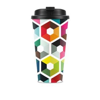 Cană de voiaj Remember Hexagon, 450 ml