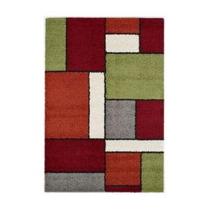 Zelenočervený koberec Calista Rugs Sydney, 60x110cm