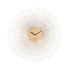 Nástěnné hodiny ve zlaté barvě Karlsson Peony Large,ø60cm