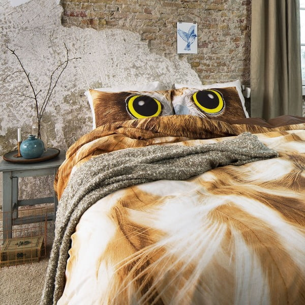Povlečení Owl Look Taupe, 240x200 cm