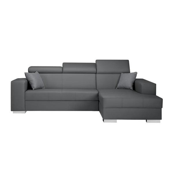 Canapea cu șezlong partea dreaptă Interieur De Famille Paris Tresor, gri deschis