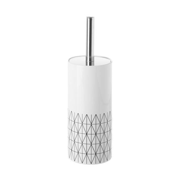 Toaletní kartáč v keramickém stojanu Unimasa Geometry