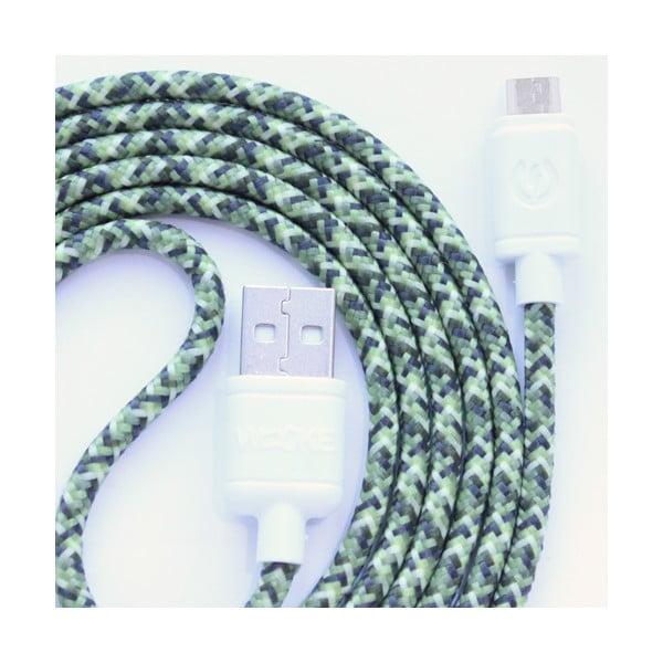 Nabíjecí kabel Micro USB Green Camo, 1,5 m