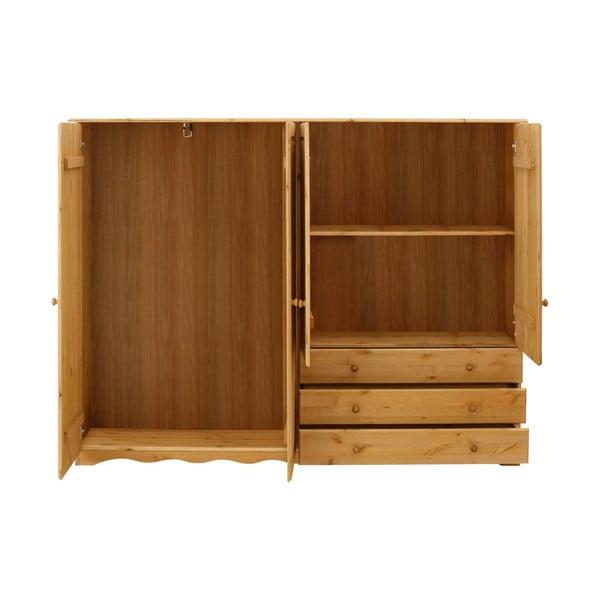 Šatní skříň z masivního borovicového dřeva Støraa Amanda TrioDuro