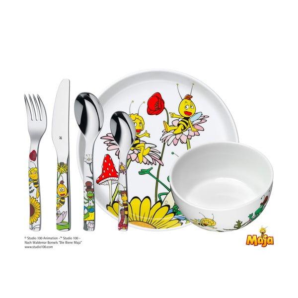 Set masă din 6 piese pentru copii WMF Cromargan® Včelka Mája