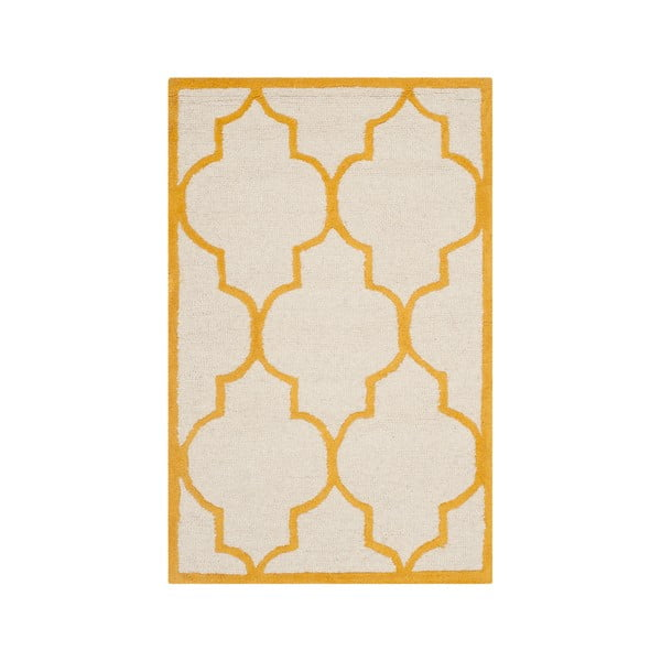Vlněný koberec Everly 91x152 cm, oranžový