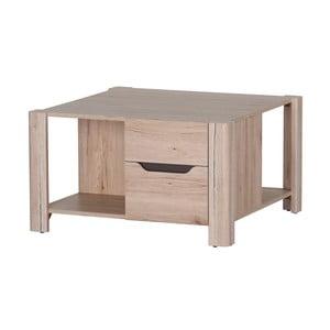 Konferenční stolek ve dřevěném dekoru se 2 zásuvkami Szynaka Meble Desjo
