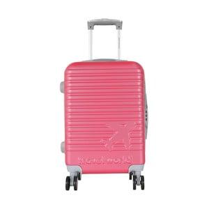 Růžové kabinové zavazadlo na kolečkách Travel World Aiport, 44l