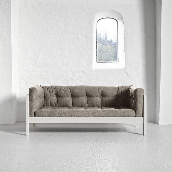 Pohovka pro dva Karup Fusion White/Linoso Light Gray