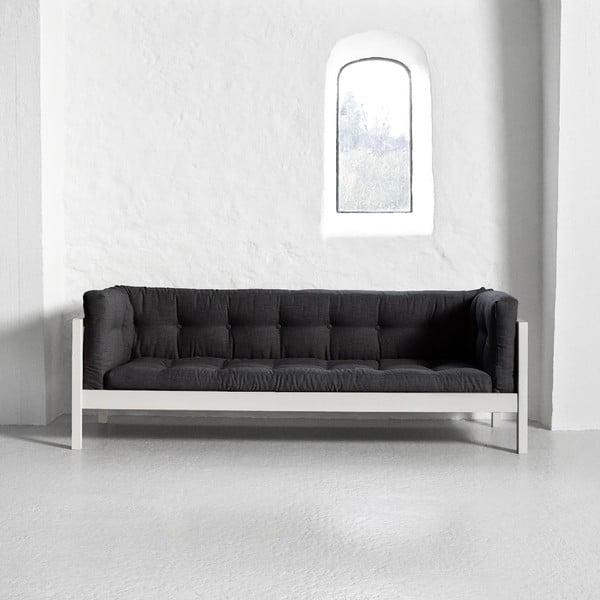 Pohovka pro tři Karup Fusion White/Linoso Dark Gray