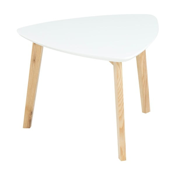 Biały stolik Actona Vitis, wys. 36 cm
