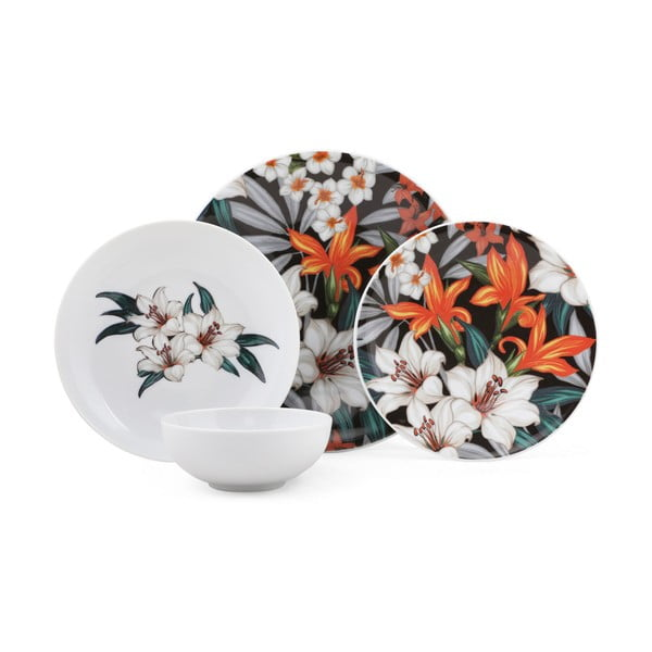 24-częściowy zestaw talerzy porcelanowych Kutahya Vantejo
