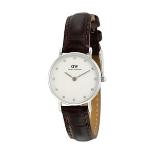 Dámské hodinky s černým páskem Daniel Wellington York Silver, ⌀26mm