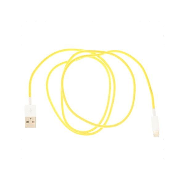 USB kabel pro iPhone 5, žlutý