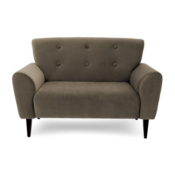 Canapea cu 2 locuri Vivonita Kiara, gri - maro