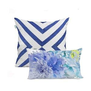 Sada 2 bavlněných povlaků na polštář HF Living Blue Dream