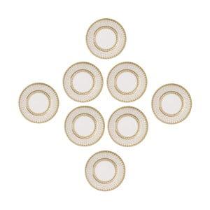 Papírové párty talíře Golden 27 cm, 8 ks